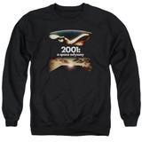 2001 A Space Odyssey Prologue Epilogue Adult Crewneck Sweatshirt Black