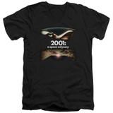 2001 A Space Odyssey Prologue Epilogue Adult V-Neck T-Shirt Black