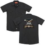 2001 A Space Odyssey Prologue Epilogue (Back Print) Adult Work Shirt Black