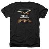 2001 A Space Odyssey Prologue Epilogue Adult Heather T-Shirt Black