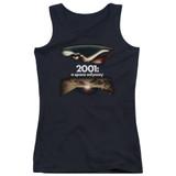 2001 A Space Odyssey Prologue Epilogue Junior Women's Tank Top T-Shirt Black