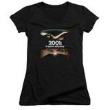 2001 A Space Odyssey Prologue Epilogue Junior Women's V-Neck T-Shirt Black