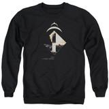 2001 A Space Odyssey Monolith Adult Crewneck Sweatshirt Black