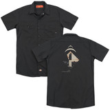 2001 A Space Odyssey Monolith (Back Print) Adult Work Shirt Black