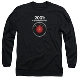 2001 A Space Odyssey Hal Adult Long Sleeve T-Shirt Black