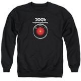 2001 A Space Odyssey Hal Adult Crewneck Sweatshirt Black