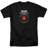 2001 A Space Odyssey Hal Adult 18/1 T-Shirt Black