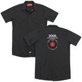 2001 A Space Odyssey Hal (Back Print) Adult Work Shirt Black