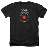2001 A Space Odyssey Hal Adult Heather T-Shirt Black