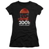 2001 A Space Odyssey Space Travel Premium Junior Women's Sheer T-Shirt Black