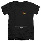 2001 A Space Odyssey Float Adult V-Neck T-Shirt Black