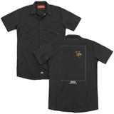 2001 A Space Odyssey Float (Back Print) Adult Work Shirt Black