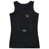 2001 A Space Odyssey Float Junior Women's Tank Top T-Shirt Black