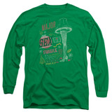 A Christmas Story It's A Major Prize Adult Long Sleeve T-Shirt Kelly Green
