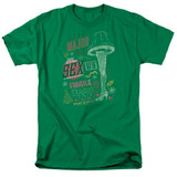A Christmas Story It's A Major Prize Adult 18/1 T-Shirt Kelly Green