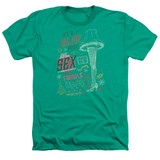 A Christmas Story It's A Major Prize Adult Heather T-Shirt Kelly Green