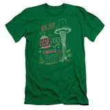 A Christmas Story It's A Major Prize Adult 30/1 T-Shirt Kelly Green