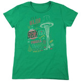A Christmas Story It's A Major Prize Women's T-Shirt Kelly Green