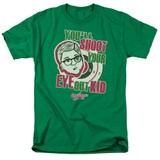 A Christmas Story You'll Shoot Your Eye Out Adult 18/1 T-Shirt Kelly Green