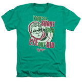 A Christmas Story You'll Shoot Your Eye Out Adult Heather T-Shirt Kelly Green