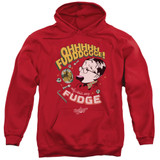 A Christmas Story Fudge Adult Pullover Hoodie Sweatshirt Red