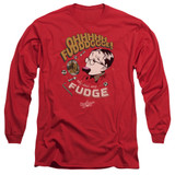 A Christmas Story Fudge Adult Long Sleeve T-Shirt Red