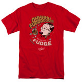 A Christmas Story Fudge Adult 18/1 T-Shirt Red