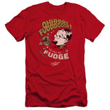 A Christmas Story Fudge Premium Adult 30/1 T-Shirt Red