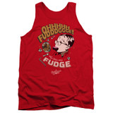 A Christmas Story Fudge Adult Tank Top T-Shirt Red