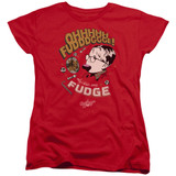 A Christmas Story Fudge Women's T-Shirt Red