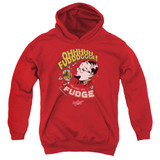 A Christmas Story Fudge Youth Pullover Hoodie Sweatshirt Red