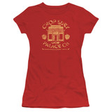 A Christmas Story Chop Suey Palace Co Junior Women's Sheer T-Shirt Red