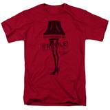 A Christmas Story Fragile Adult 18/1 T-Shirt Cardinal