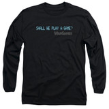 WarGames Shall We Long Sleeve Adult 18/1 T-Shirt Black