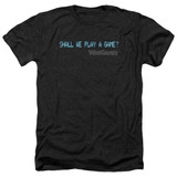 WarGames Shall We Adult T-Shirt Heather Black