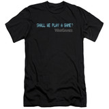 WarGames Shall We Premium Canvas Adult Slim Fit 30/1 T-Shirt Black