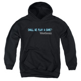 WarGames Shall We Youth Pullover Hoodie Sweatshirt Black