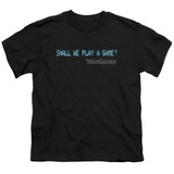 WarGames Shall We S/S Youth 18/1 T-Shirt Black