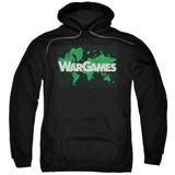 WarGames Game Board Adult Pullover Hoodie Sweatshirt Black