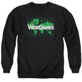 WarGames Game Board Adult Crewneck Sweatshirt Black