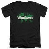 WarGames Game Board S/S Adult V Neck 30/1 T-Shirt Black