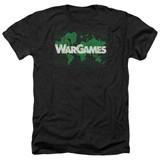 WarGames Game Board Adult T-Shirt Heather Black