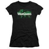 WarGames Game Board S/S Junior Women's T-Shirt Sheer Black