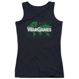WarGames Game Board Junior Women's Tank Top Black