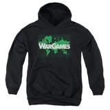 WarGames Game Board Youth Pullover Hoodie Sweatshirt Black