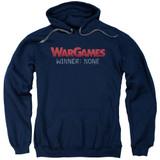 WarGames No Winners Adult Pullover Hoodie Sweatshirt Navy