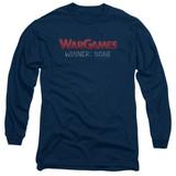 WarGames No Winners Long Sleeve Adult 18/1 T-Shirt Navy