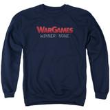 WarGames No Winners Adult Crewneck Sweatshirt Navy