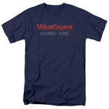 WarGames No Winners S/S Adult 18/1 T-Shirt Navy