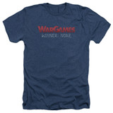 WarGames No Winners Adult T-Shirt Heather Navy
